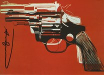 Lot #1239: ANDY WARHOL - Guns #05 - Color offset lithograph