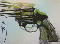 Lot #1238: ANDY WARHOL - Guns #07 - Color offset lithograph