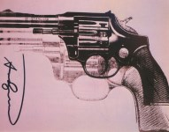 Lot #2009: ANDY WARHOL - Guns #10 - Color offset lithograph