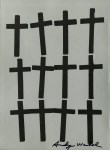 Lot #2113: ANDY WARHOL - Crosses #2 - Color lithograph