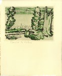 Lot #277: DAVID B. MILNE - Painting Place/Hilltop - Color drypoint