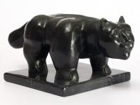 Lot #2030: FERNANDO BOTERO [imputee] - Gato - Bronze sculpture with dark brown patina