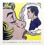Lot #825: ROY LICHTENSTEIN - Thinking of Him - Original color silkscreen