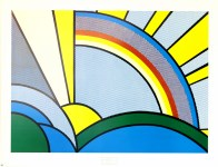 Lot #1098: ROY LICHTENSTEIN - Modern Painting with Sun Rays - Color silkscreen