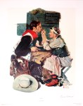 Lot #1581: NORMAN ROCKWELL - The Texan - Original color collotype and lithograph