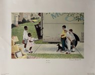 Lot #1086: NORMAN ROCKWELL - Moving Day - Original color collotype