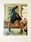 Lot #1570: NORMAN ROCKWELL - Tom Sawyer: The Master's Arm… - Original color collotype