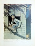 Lot #1571: NORMAN ROCKWELL - Tom Sawyer: He Meow'd… - Original color collotype
