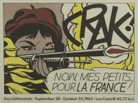 Lot #1341: ROY LICHTENSTEIN - Crak! - Original color offset lithograph poster