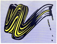 Lot #671: ROY LICHTENSTEIN - Brushstroke - Original color silkscreen