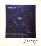 Lot #1114: JEAN-MICHEL BASQUIAT - Masonic Lodge - Color offset lithograph