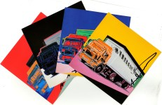 Lot #75: ANDY WARHOL - Trucks Suite - Color offset lithographs