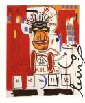 Lot #1253: JEAN-MICHEL BASQUIAT - God Monkey - Color offset lithograph