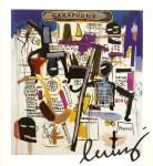 Lot #911: JEAN-MICHEL BASQUIAT - Saxophone - Color offset lithograph
