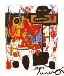 Lot #927: JEAN-MICHEL BASQUIAT - Rubber - Color offset lithograph