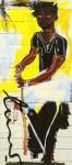 Lot #971: JEAN-MICHEL BASQUIAT - Portrait of Jack Walls - Color offset lithograph