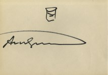 Lot #661: ANDY WARHOL - Campbell's Soup Can #3 - Marker drawing on paper