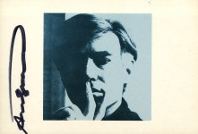 Lot #184: ANDY WARHOL - Self-Portrait - Color offset lithograph