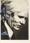 Lot #1748: ANDY WARHOL - Portrait of Andy Warhol - Color offset lithograph