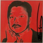 Lot #366: ANDY WARHOL - Michael Chow - Color offset lithograph