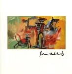 Lot #1414: JEAN-MICHEL BASQUIAT - Boy and Dog in a Johnnypump - Color offset lithograph