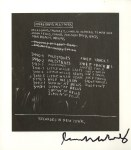 Lot #1324: JEAN-MICHEL BASQUIAT - Discography I - Offset lithograph