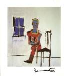Lot #929: JEAN-MICHEL BASQUIAT - Rodo - Color offset lithograph