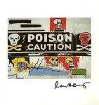 Lot #1368: JEAN-MICHEL BASQUIAT & ANDY WARHOL - Collaboration No.62 - Color offset lithograph