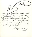 Lot #30: ANDY WARHOL - Warhol/Wunsche #1 - Autograph - initials on paper