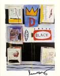 Lot #687: JEAN-MICHEL BASQUIAT - Black - Color offset lithograph