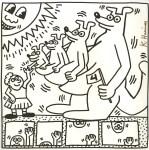 Lot #2041: KEITH HARING - Four Kangaroos - Lithograph