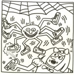 Lot #2083: KEITH HARING - Eight Shoes - Lithograph