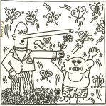Lot #1818: KEITH HARING - Nine Butterflies - Lithograph