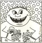 Lot #1659: KEITH HARING - Sixteen Teeth - Lithograph