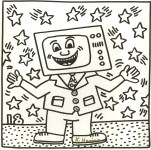 Lot #1309: KEITH HARING - Eighteen Stars - Lithograph