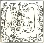 Lot #1817: KEITH HARING - Nineteen Legs - Lithograph