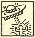 Lot #799: KEITH HARING - UFO #1 - Lithograph