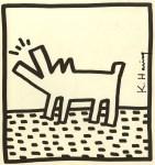 Lot #700: KEITH HARING - Barking Dog - Lithograph