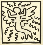 Lot #1401: KEITH HARING - Butterfly - Lithograph