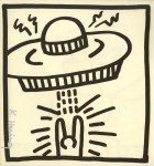 Lot #1551: KEITH HARING - UFO #2 - Lithograph