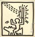 Lot #1134: KEITH HARING - Man Riding Dog - Lithograph