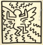 Lot #1463: KEITH HARING - Angel - Lithograph