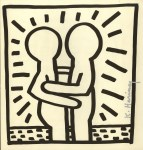 Lot #1305: KEITH HARING - Embrace - Lithograph