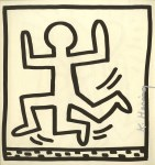 Lot #824: KEITH HARING - Three Legged Man - Lithograph
