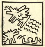 Lot #2198: KEITH HARING - Barking Angel Dogs - Lithograph