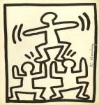 Lot #964: KEITH HARING - Pyramid - Lithograph