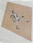 Lot #1858: FRANCISCO TOLEDO - MonoHombre - Original color stencil cut with watercolor