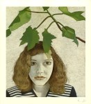 Lot #2019: LUCIAN FREUD - Girl with Leaves - Color offset lithograph