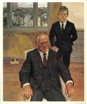 Lot #1558: LUCIAN FREUD - Two Irishmen in W11 - Color offset lithograph