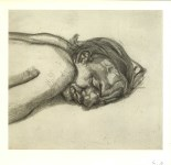 Lot #1908: LUCIAN FREUD - Man Resting - Offset lithograph [following the original etching]